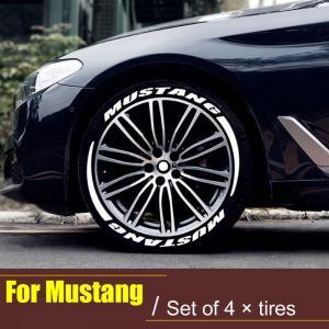 Däck-text sticker Ford Mustang däck stylings kitt