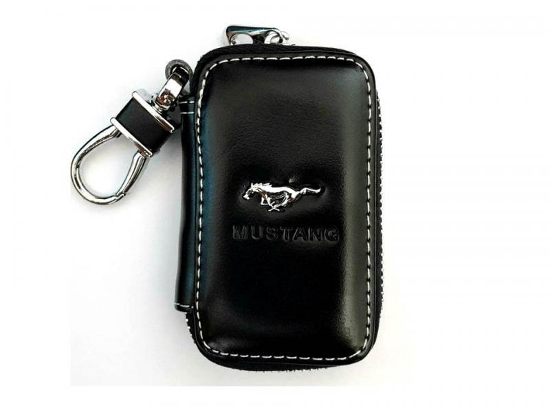 Ford Mustang etui nyckelfodral i svart läder