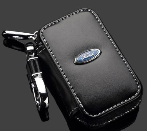 Ford logo nyckel etui nyckelväska i svart läder