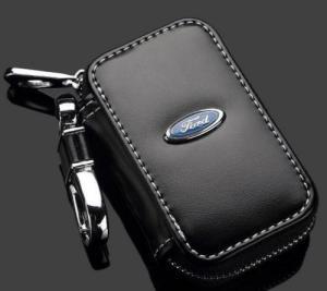 Ford logo etui nyckelväska i läder