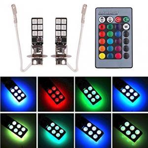 H3 LED RGB lampa med alla färger. Bytt färg med kontroll