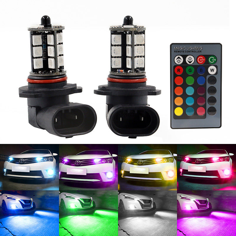 Populära HB3 9005 RGB LED lampa lampor med fjärrkontroll till bilen OD-64