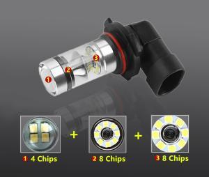 Superstarka HB4 60W LED lampa för dimljus belysning