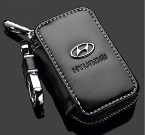 Hyundai logo nyckelfodral nyckelväska i läder