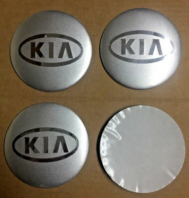 KIA hjulnav emblem i silverfärg 56 mm navemblem