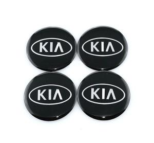 KIA logo hjulnav emblem i svart 56mm, 65mm