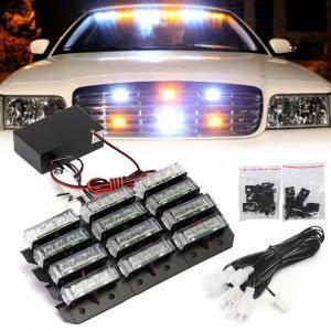 Blixtljus LED strobe lampor blinkande till fordon (Orange)