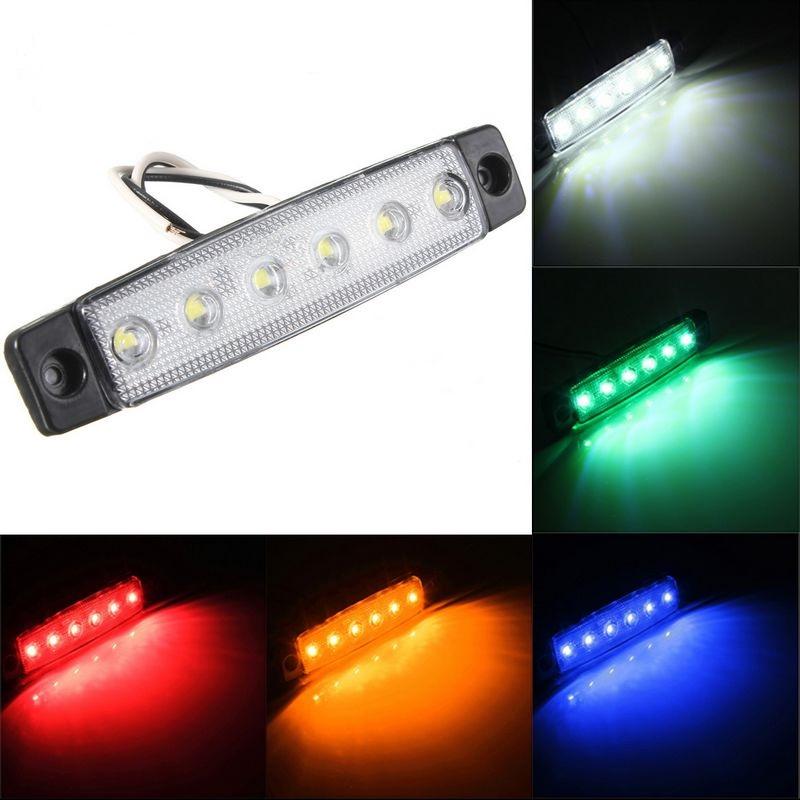 LED DRL extra ljus lampor till bil båt mc lastbil, ATV universal