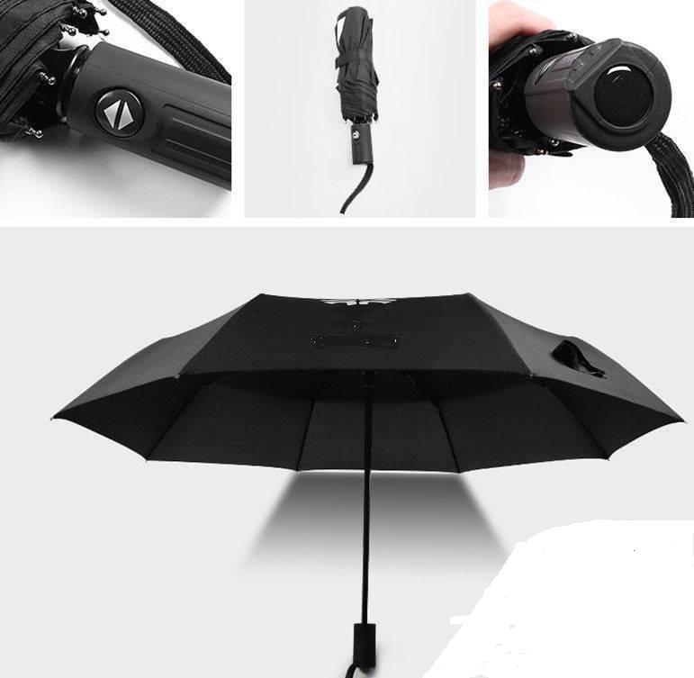 Liten paraply som är perfekt för att ha i bilen