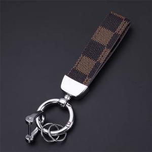 Lyxig mode strap nyckelring nyckelhänge i läder
