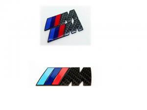 BMW M logo carbon kolfiber emblem till bilen