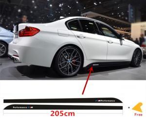 M Performance dekaler till BMW sidokjolar i svart 215 cm