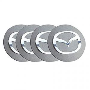 Mazda logo hjulnav emblem i silver 56, 65 mm