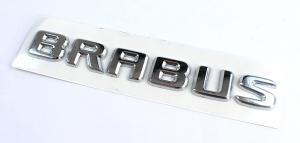 Mercedes BRABUS emblem i svart och silver