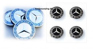 Mercedes centrumkåpor ny modell 60mm 2 färger