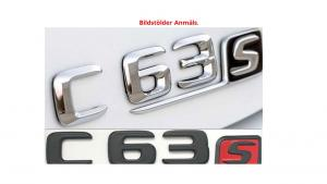 Mercedes C63s logo emblem i svart och silver