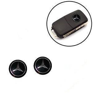 Mercedes Benz emblem till bilnycklarna 2-pack