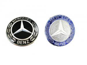 Mercedes emblem till ratt 52 mm rattemblem blå/svart