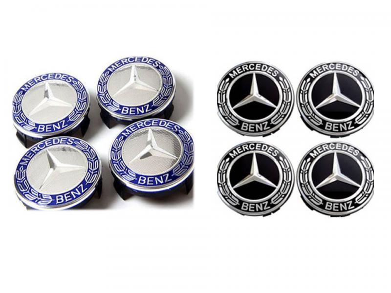Mercedes centrumkåpor nya modellen 75 mm