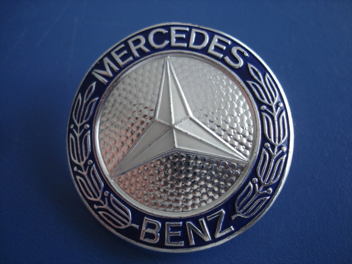 mercedes benz motorhuv logo emblem m rke 57mm. Black Bedroom Furniture Sets. Home Design Ideas