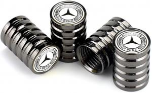 Mercedes Benz ventilhattar 4-pack silverfägade