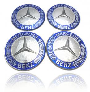 Mercedes hjulnav emblem blå, 56, 60, 65 mm