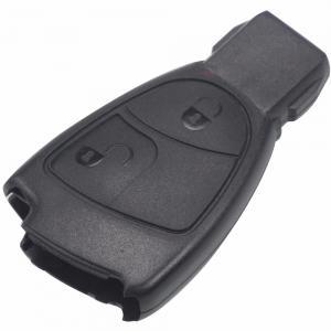 Mercedes fjärrnyckel nyckel skal med 2 knappar