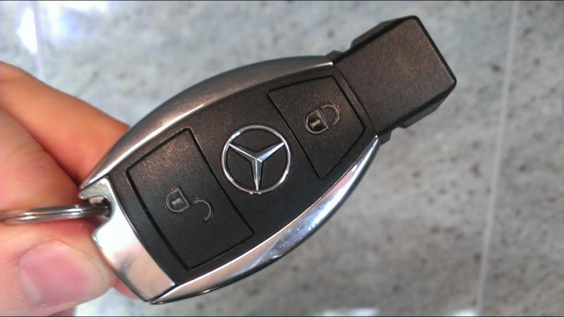 Mercedes fjärrnyckel larmdosa med 2 knappar