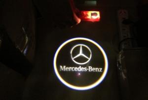 Mercedes Benz dörrlampor dörrbelysning med logo
