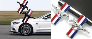Ford Mustang 2-pack emblem märke till skärmarna