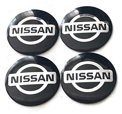 Nissan logo hjulnav emblem i svart 56, 60 mm