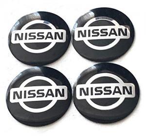 Nissan logo hjulnav emblem i svart 60 mm