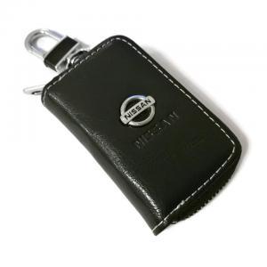 Nissan logo nyckelfodral nyckelväska i läder