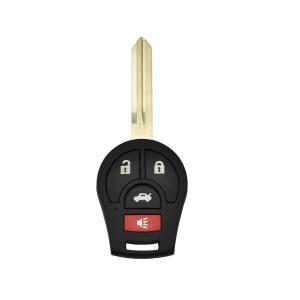 Nissan bilnyckel nyckelskal med 4 knappar