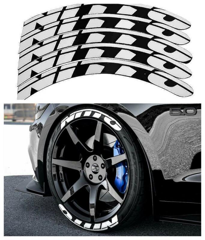 Däck-text sticker NITTO däck stylings tire lettering