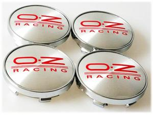 OZ Racing centrumkåpor fälgemblem 60mm 4 pack silver