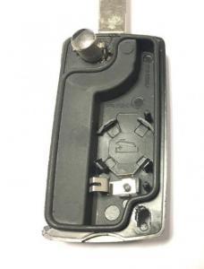 Citröen & Peugeot bilnyckel med 4 knappar