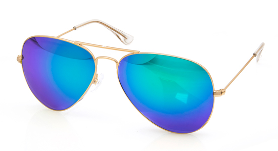 Pilot solglasögon unisex med blå   lila glas 98b821917ca1b
