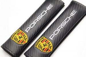 Porsche logo bälteskuddar kuddar i kolfiber