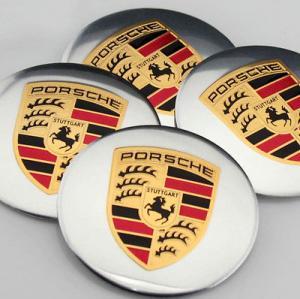 Porsche hjulnav emblem silver, 56 och 65 mm