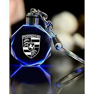 Porsche LED kristall nyckelring med alla färger