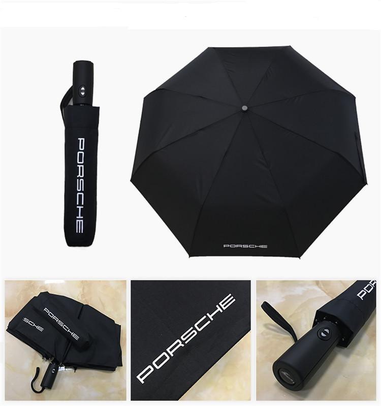 Porsche logo paraply. Perfekt för att ha i bilen