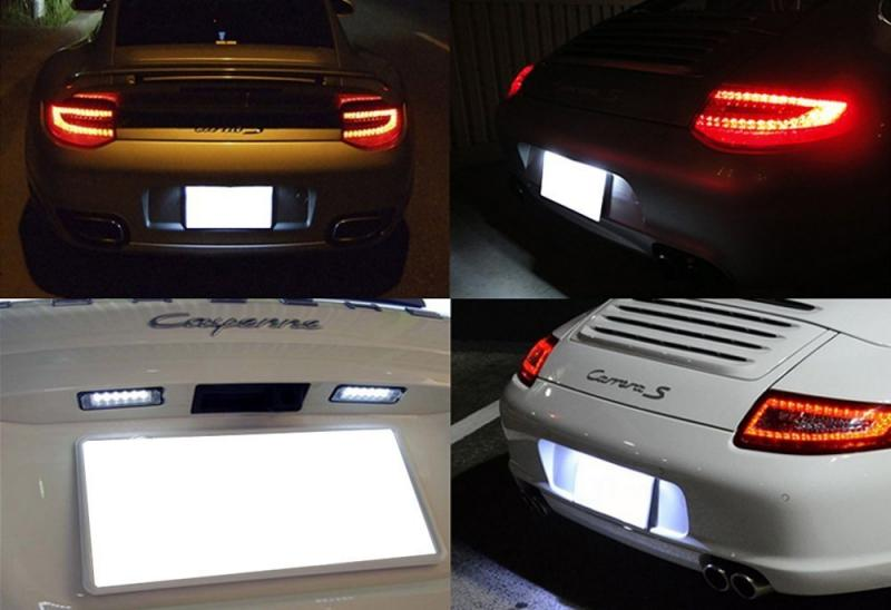 Porsche skyltbelysning LED lampor lampa till bilen