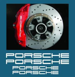 Porsche logo bromsoks-dekaler stickers till bromsar