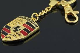 Porsche logo nyckelring nyckelhänge