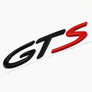 Porsche GTS logo emblem till bilen silver och svart