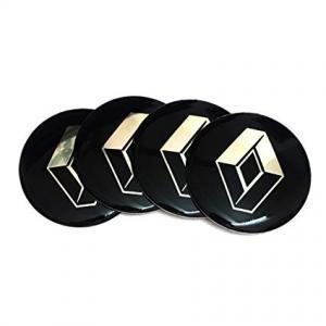 Renault logo hjulnav emblem 65mm svarta stickers