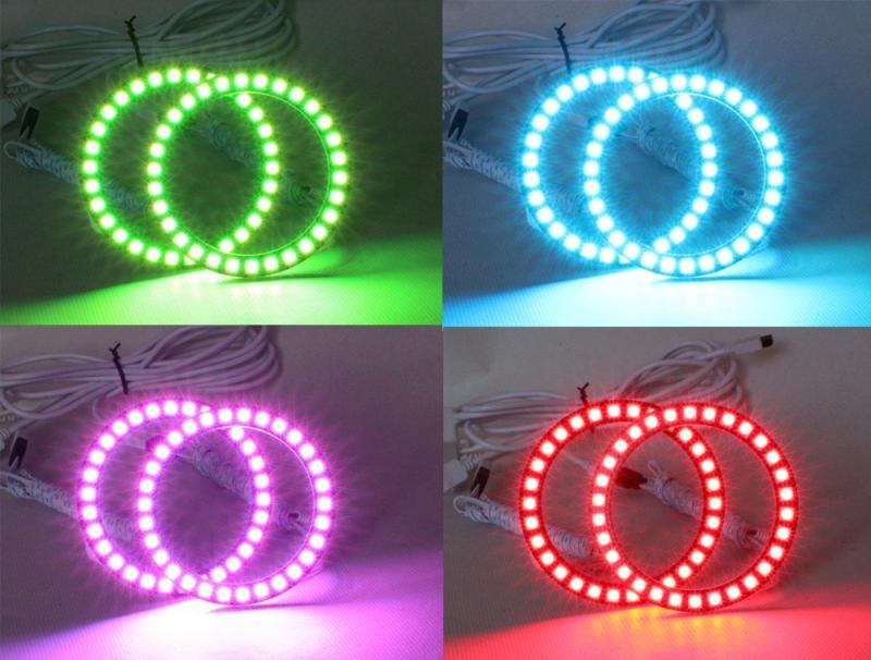 Angel eyes RGB ringar universal för alla bilar, mc atv