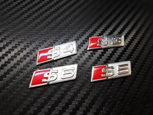 Audi S3, S4, S5, S6 emblem till Audi ratt 4 modeller