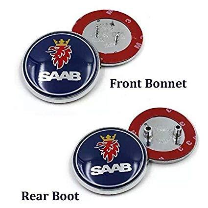 SAAB logo emblem till motorhuv / bagagelucka, 68 mm
